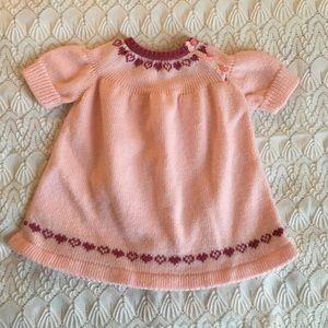 Vintage knitted baby dress💕